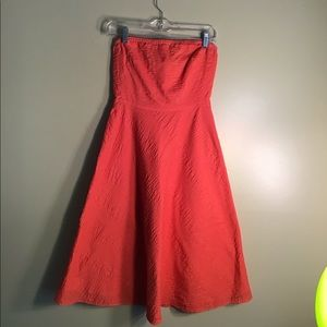 J Crew Women's Orange Strapless Dress Size 2